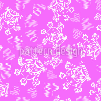 Owl You Need Is Love Love Love Repeating Pattern