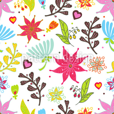 We Love Flowers Pattern Design