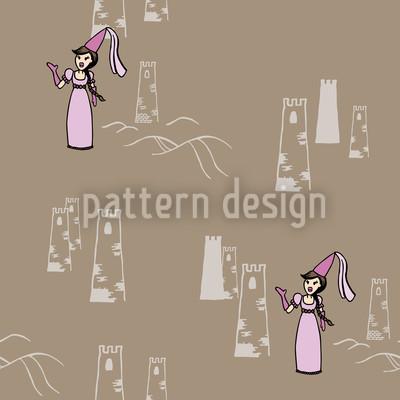 Die Maid Kunigunde Nahtloses Muster