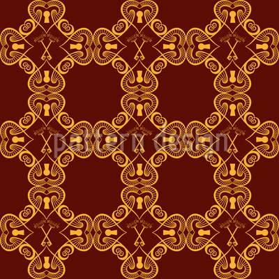 Key To Love Seamless Pattern