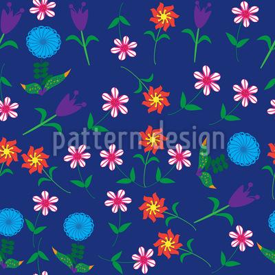 Es Sprechen Die Blumen Nahtloses Vektor Muster