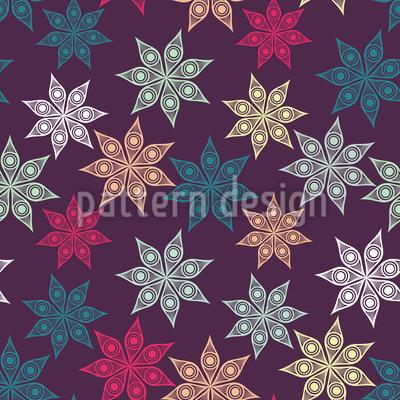 Weihnachtlicher Sternenhimmel Rapportiertes Design