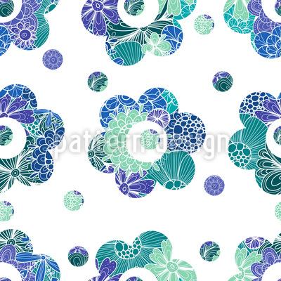 Blumen Schablone Rapportmuster