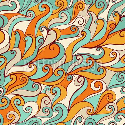 Ozean Der Fröhlichen Sirenen Musterdesign