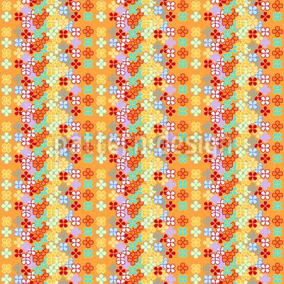 Blumen Streifen Designmuster