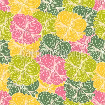 Sommerblumen Walzer Nahtloses Muster