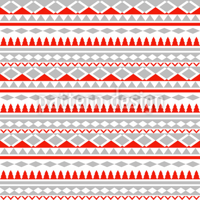 Christmas Geometry Repeating Pattern