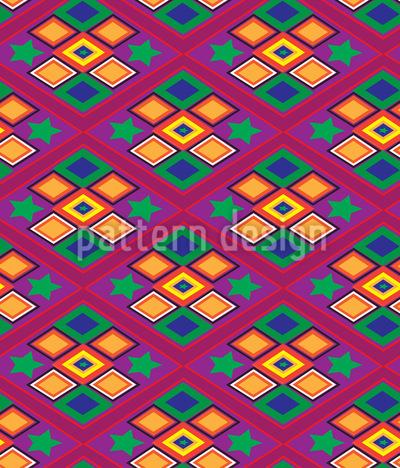 Lateinamerika Rauten Muster Design