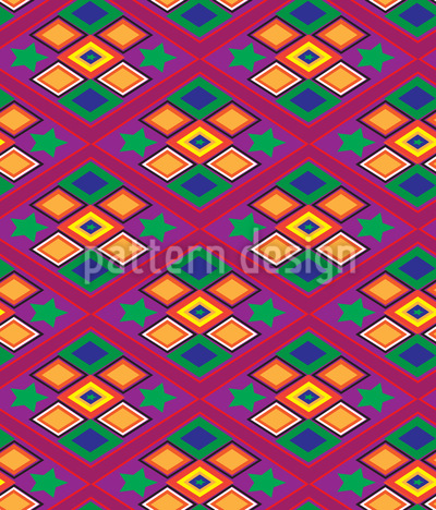 Latin Rhomb Pattern Design