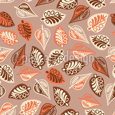 Budapest Leaf Melancholy Seamless Vector Pattern