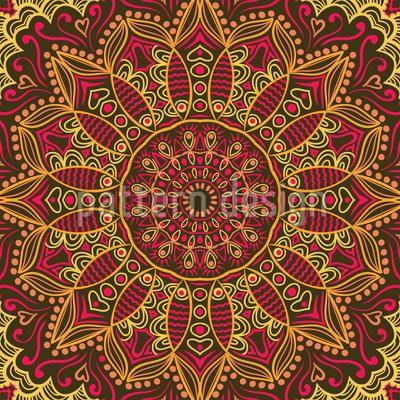 The Autumnal Sari Of The Maharani Pattern Design