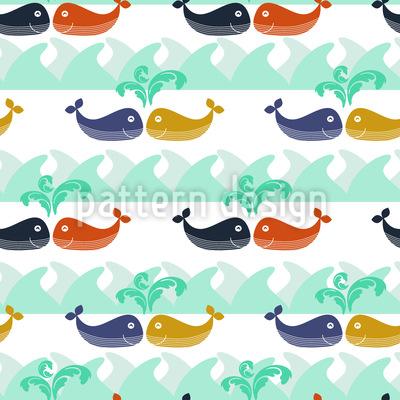 Verliebte Wale Rapportiertes Design
