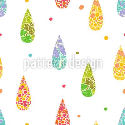 Refreshing Raindrops Seamless Pattern