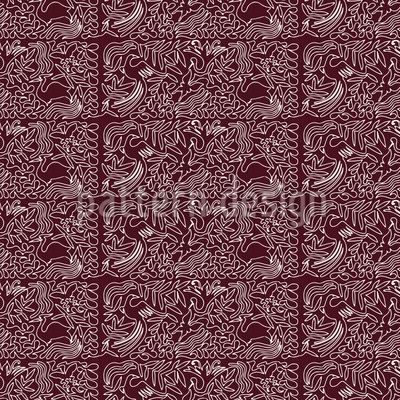 Filigrane Schokolade Musterdesign
