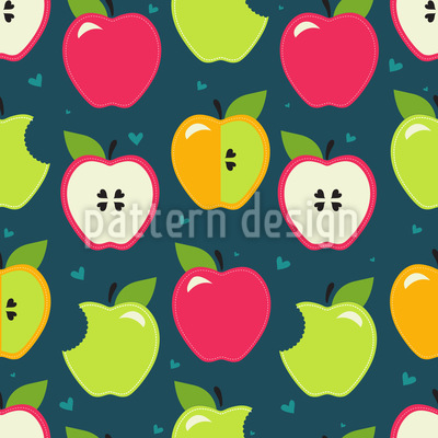 Bite The Apples Vector Design