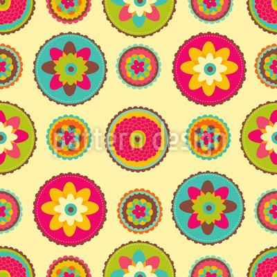 Omis Blumen Deckchen Rapportmuster