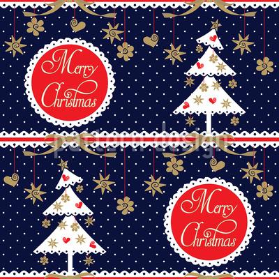 Alpine Weihnachten Nahtloses Muster