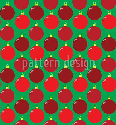 Christmas Baubles Seamless Vector Pattern
