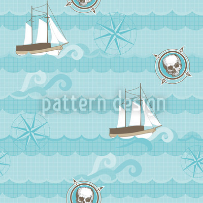 Pirates Aho! Vector Pattern
