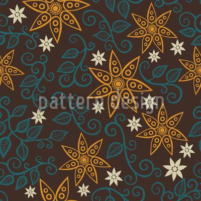Filigrane Stern Blumen Designmuster