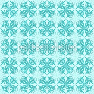 Arktik Floral Musterdesign