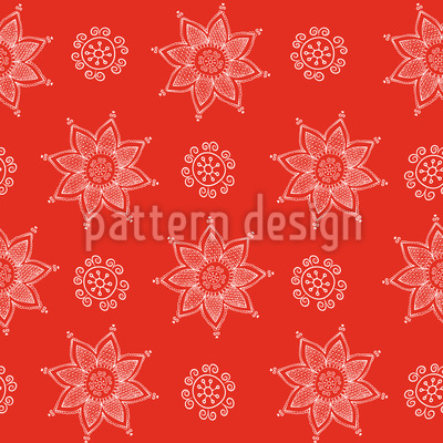 Indian Flower Christmas Repeat Pattern
