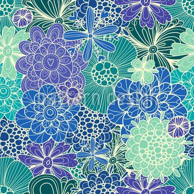 Blumen Für Rusalka Nahtloses Muster