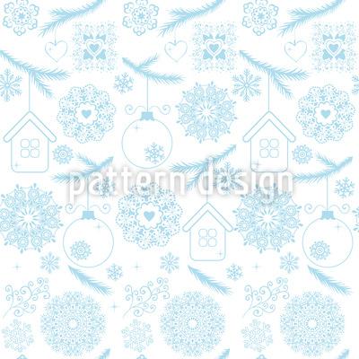 Hauchzarte Weihnacht Nahtloses Vektor Muster