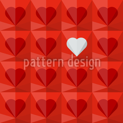 Crystal Hearts Repeat Pattern