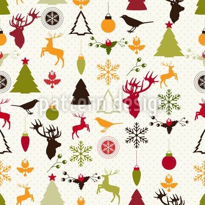 Weihnachtsglück Nahtloses Muster
