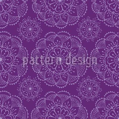 Henna Blumen Designmuster