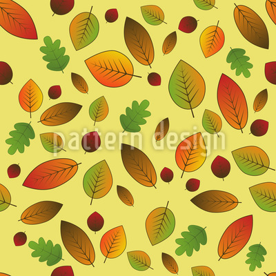 Changing Leaves Vector Pattern