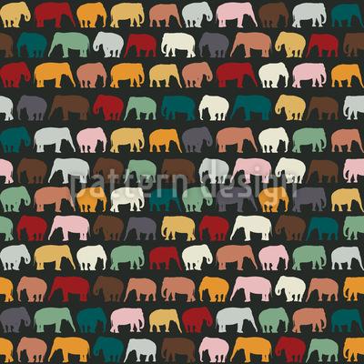 Elephant Zone Seamless Pattern