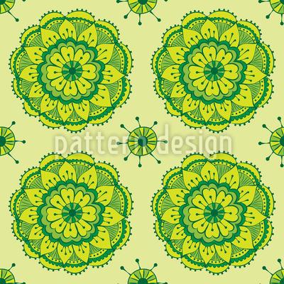 Frischer Lotus Rapportiertes Design