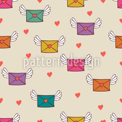 Ich Sende Dir Heute Meine Liebe Vektor Ornament