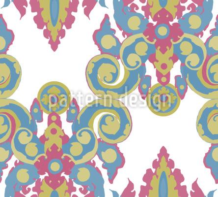 Warhol Barock Nahtloses Vektor Muster