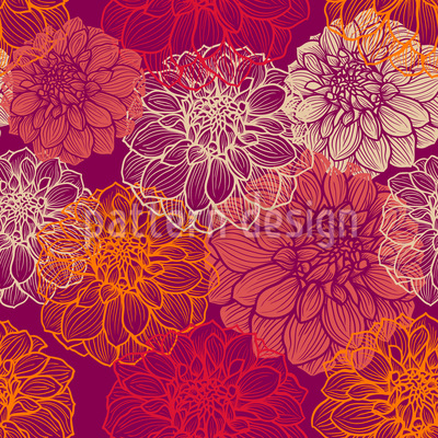 My Beautiful Dahlias Vector Ornament