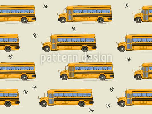 Der Schulbus Hat Nachtschicht Designmuster