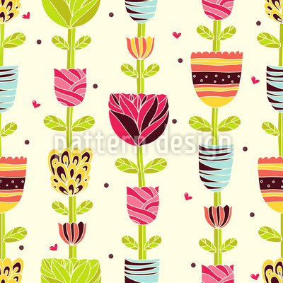 Blumenketten Im Sommer Vektor Ornament