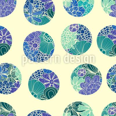 Rusalkas Flower Circles Seamless Pattern