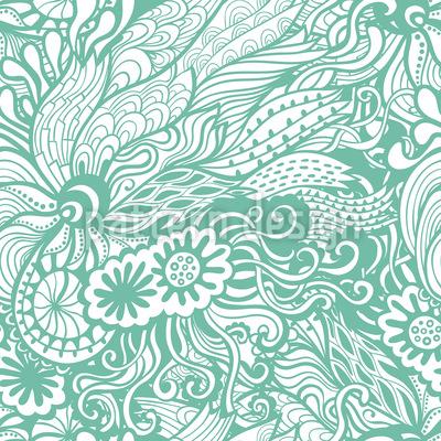 Art Nouveau Des Meeres Rapportmuster