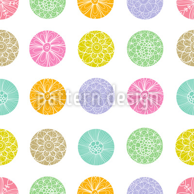 Polkadot Flowers Vector Design
