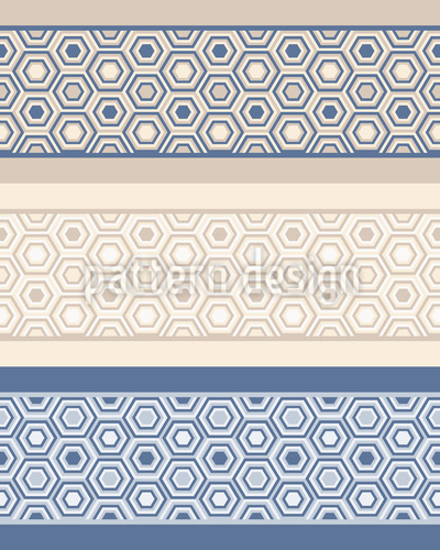 Hexagon Borders Seamless Vector Pattern