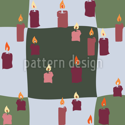 Kerzenlicht Auf Karo Nahtloses Muster