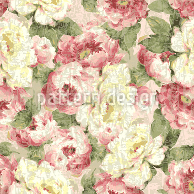 Patina Roses Seamless Vector Pattern