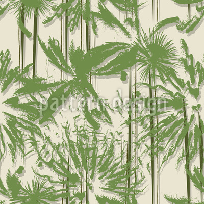 Palm Trees In Vietnam Vector Pattern