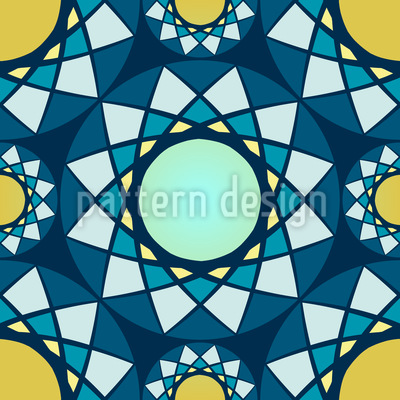 The Mosaic Of The Winter Sun Vector Design