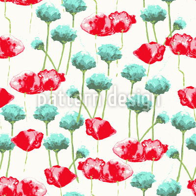 Poppy Potpourri Vector Pattern