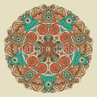 Das Mandala Des Dschingis Khan Vektor Muster