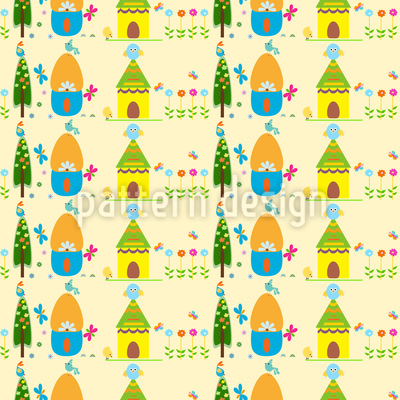 Spring Dreaming Vector Pattern